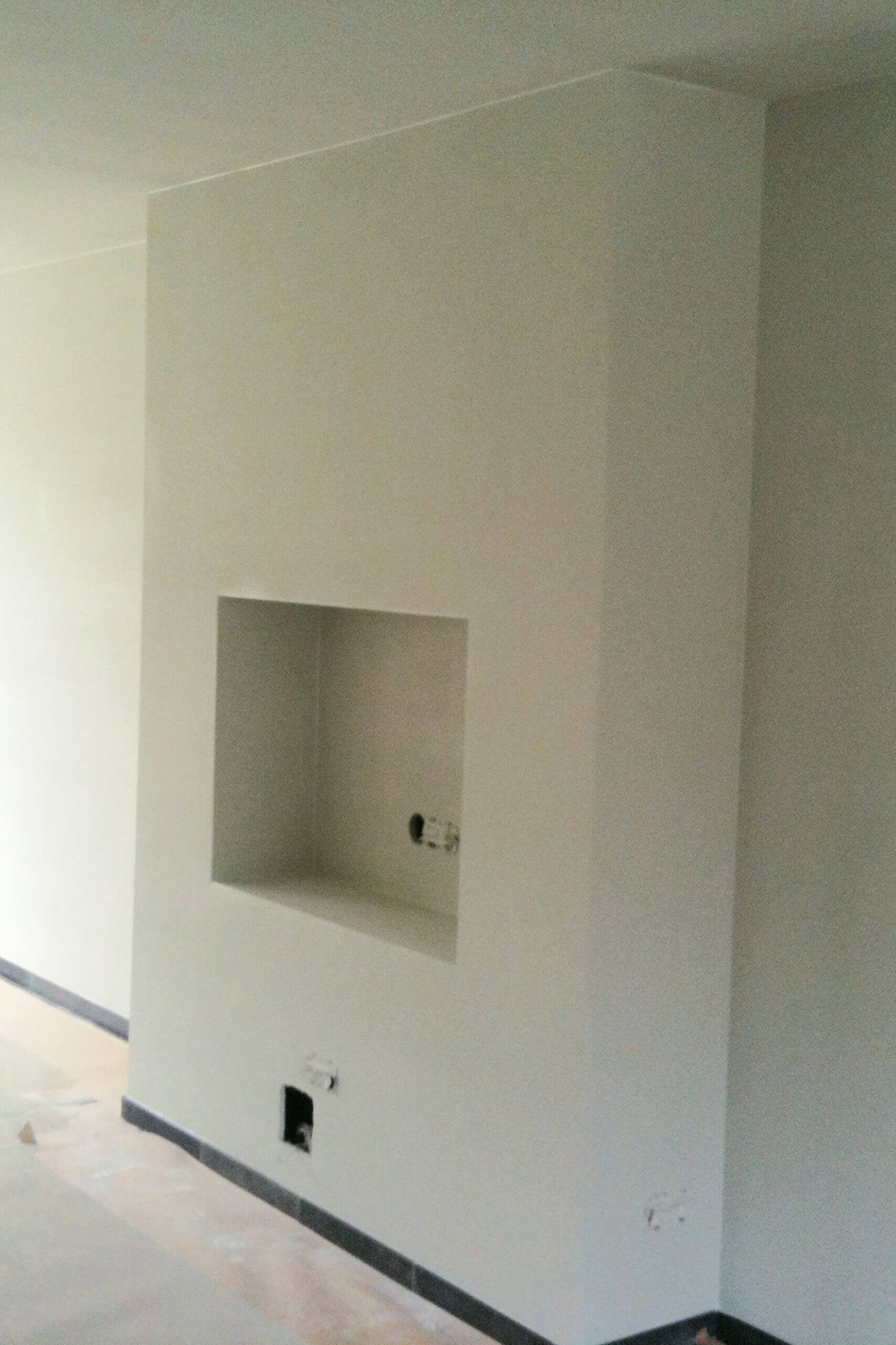 Verbouwing Oss haard/muur